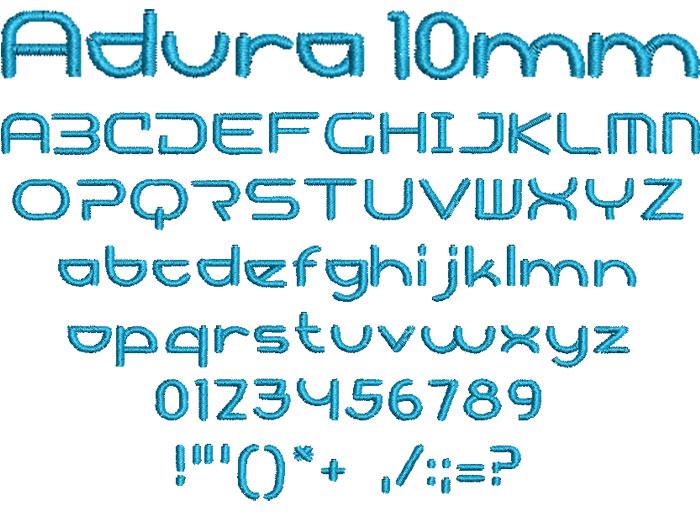 Adura 10mm Font 1