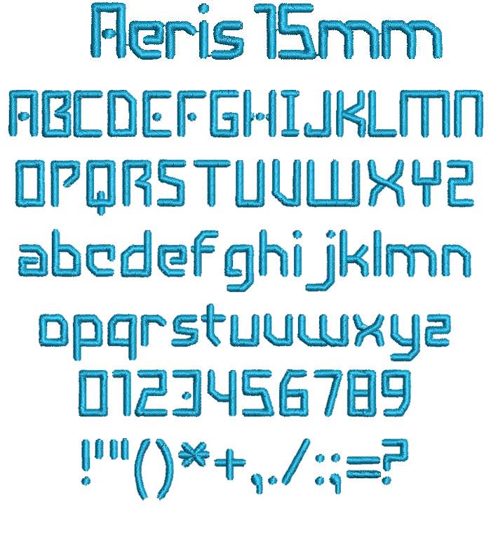 Aeris 15mm Font 1