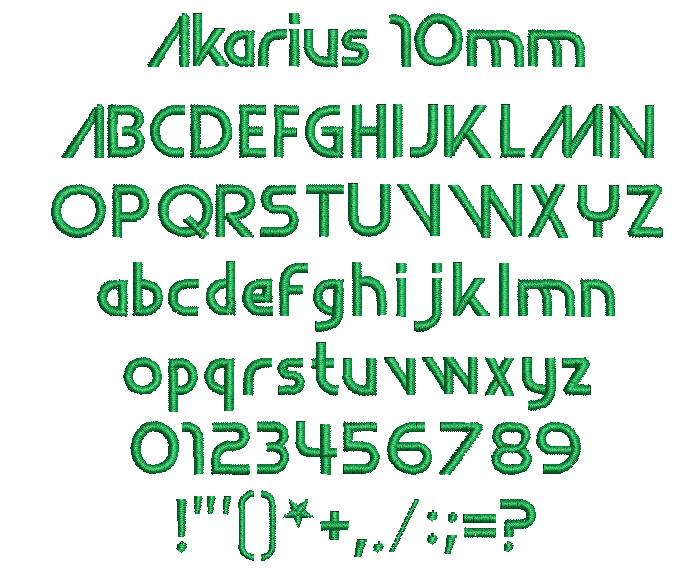 Akarius 10mm Font 1