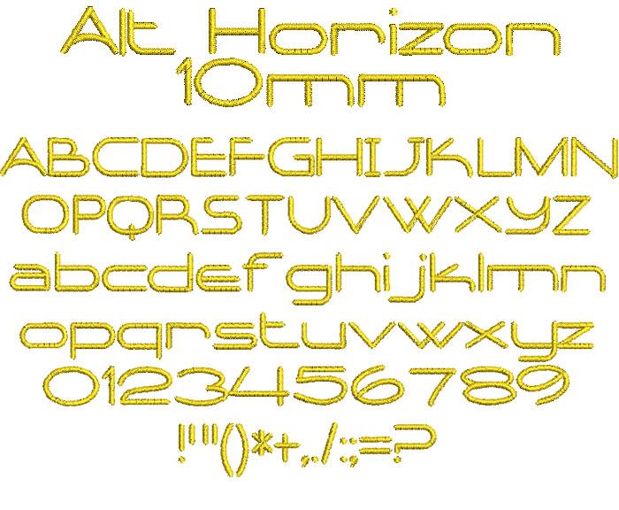 Alt Horizon 10mm Font 1