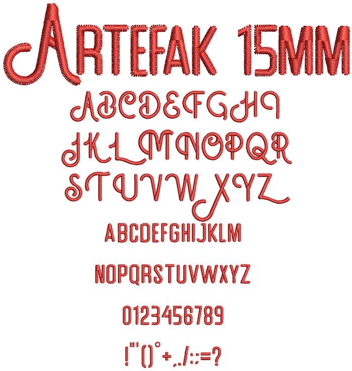 Artefak 15mm Font 1