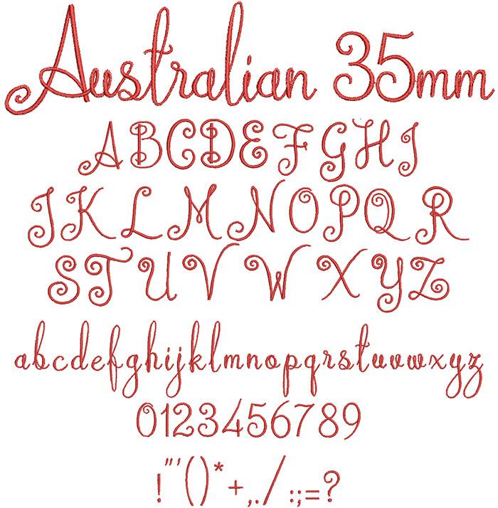Australian 35mm Font 1