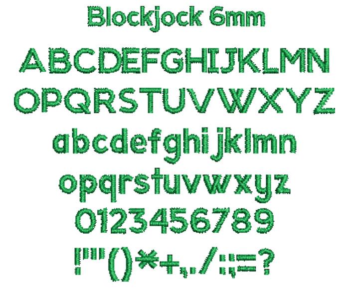 Blockjock 6mm Font 1
