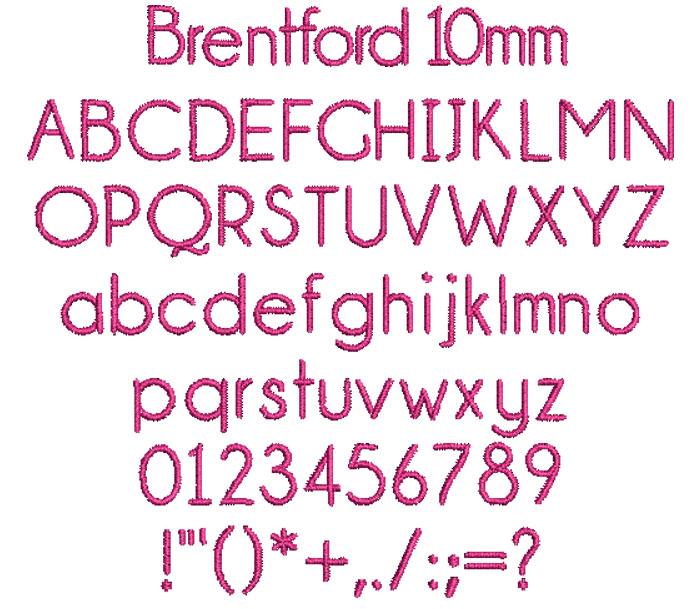 Brentford 10mm Font 1