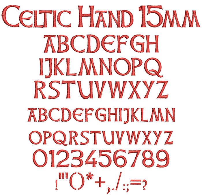 Celtic Hand 15mm Font 1