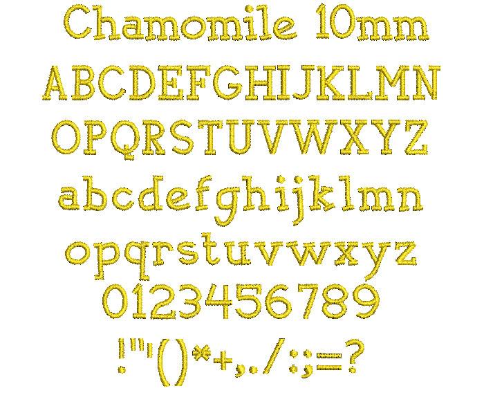 Chamomile 10mm Font 1