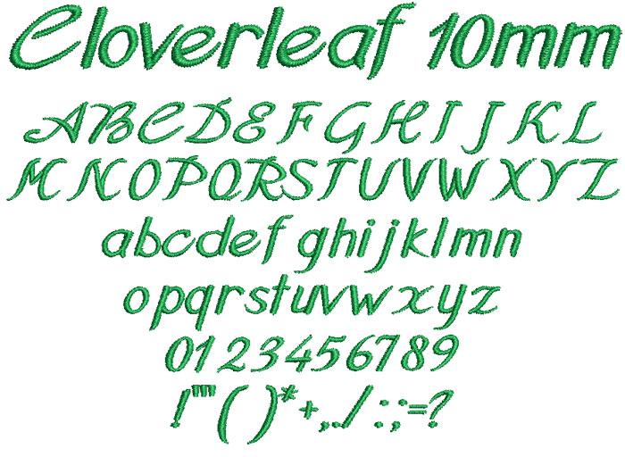 Cloverleaf 10mm Font 1