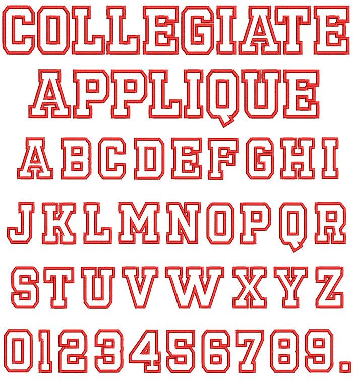 Collegiate Applique Font 1