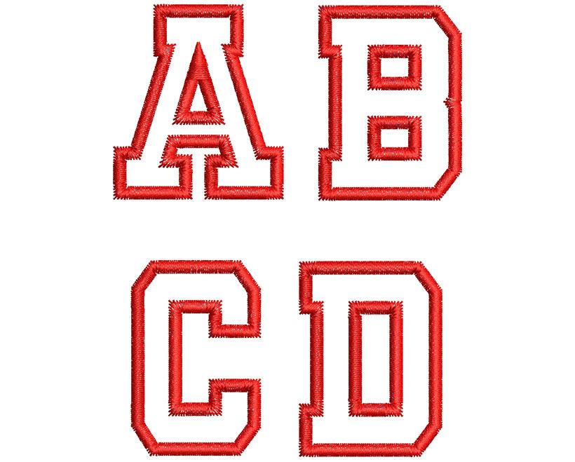 Collegiate Applique Font 2