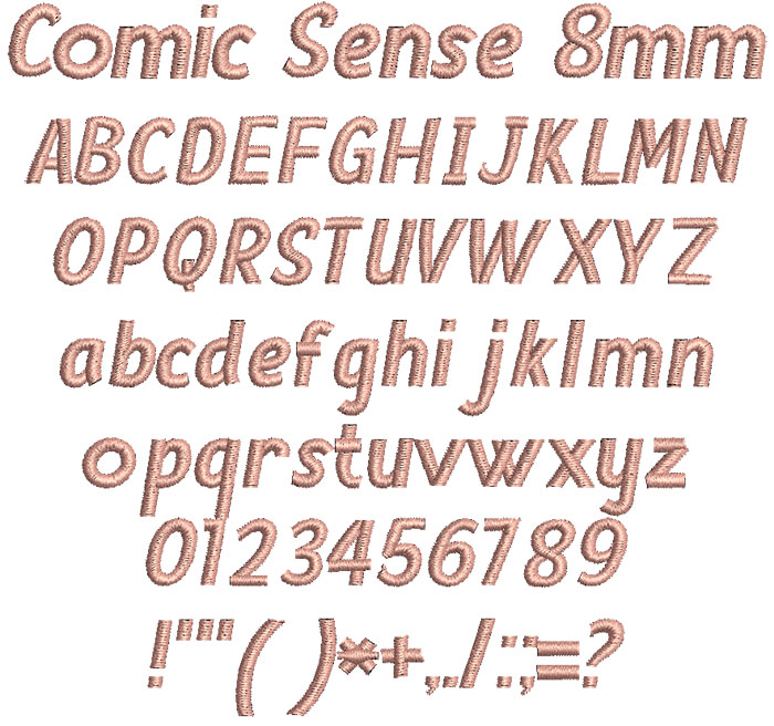 Comic Sense 8mm Font 1