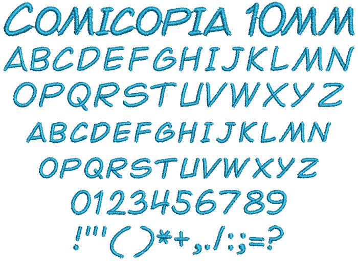 Comicopia 10mm Font 1