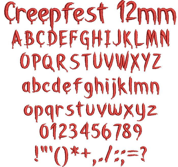 Creepfest 12mm Font 1