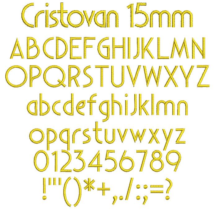 Cristovan 15mm Font 1
