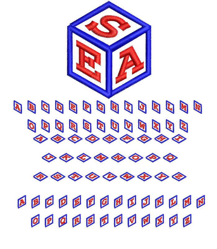 Cube Monogram 50mm Font 1