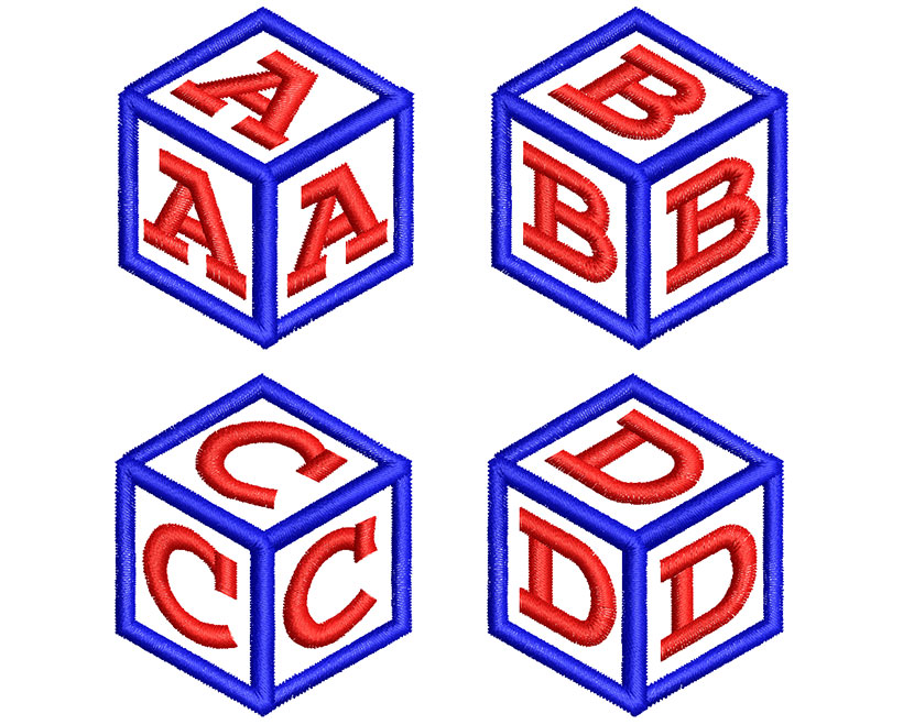 Cube Monogram 50mm Font 2