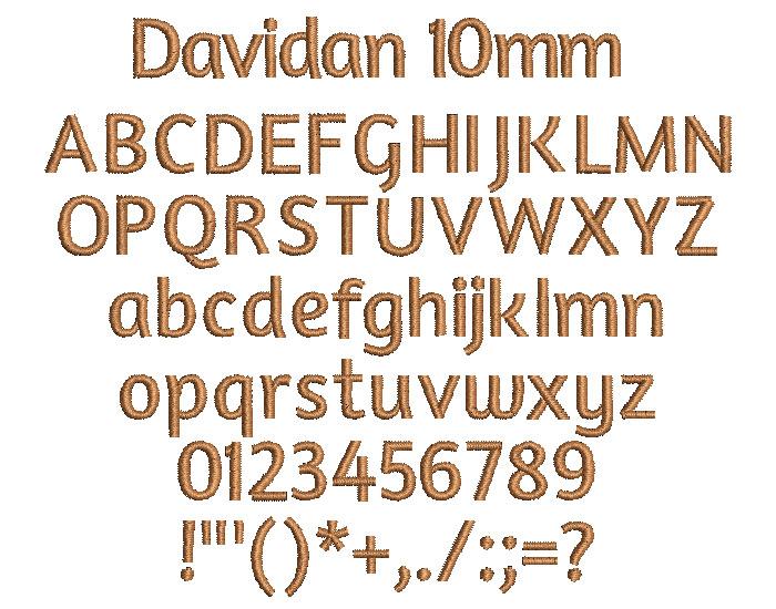 Davidan 10mm Font 1