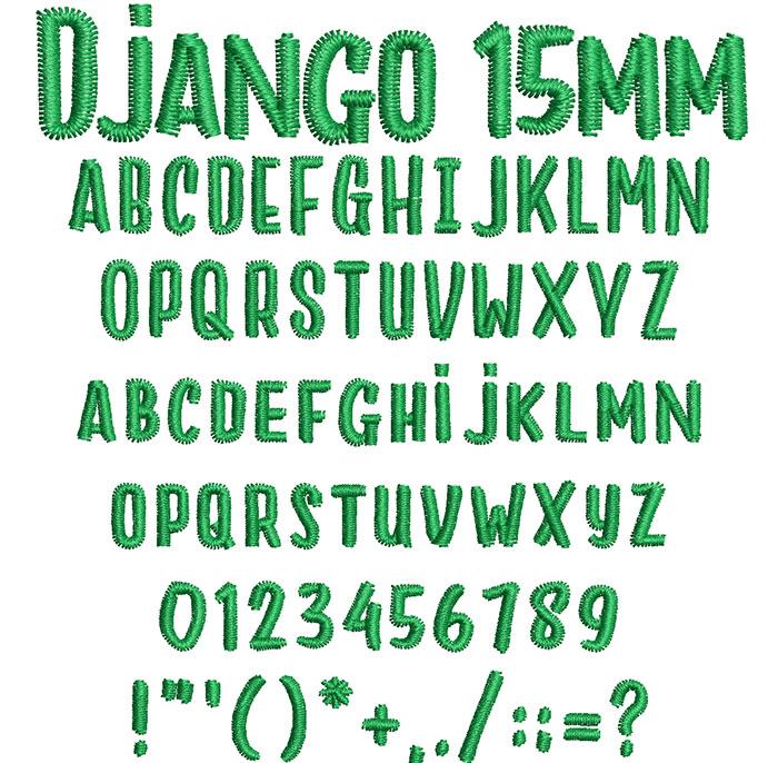Django 15mm Font 1