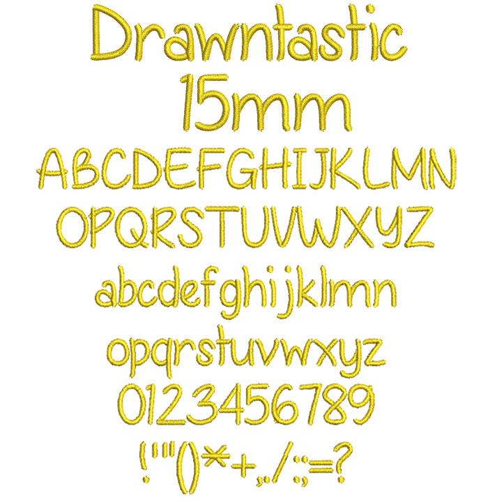Drawntastic 15mm Font 1