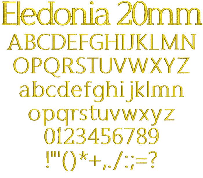 Eledonia 20mm Font 1