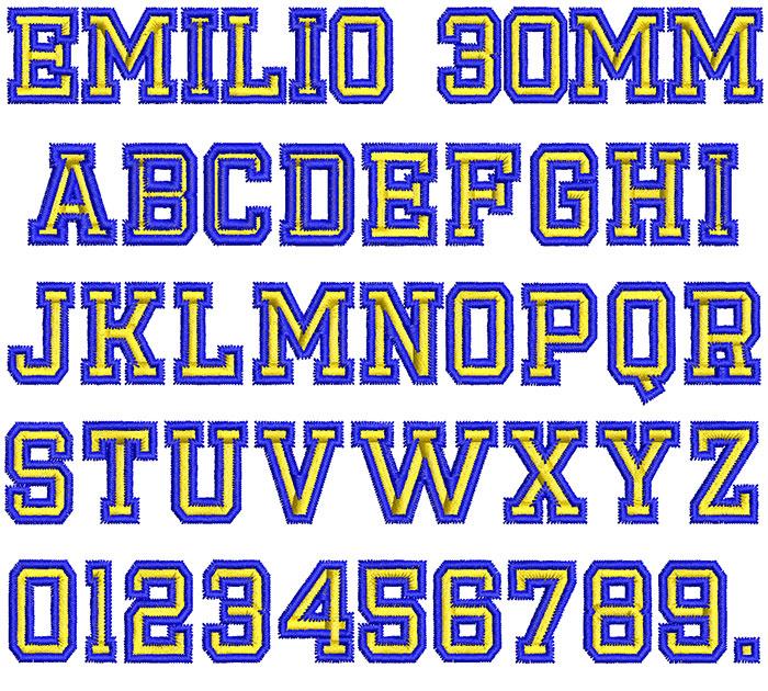 Emilio 2 Color 30mm Font 1