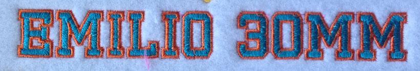 Emilio 2 Color 30mm Font 2