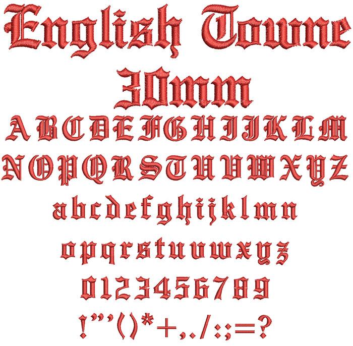 English Towne 30mm Font 1