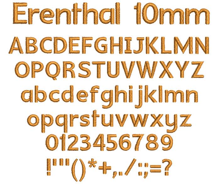 Erenthal 10mm Font 1