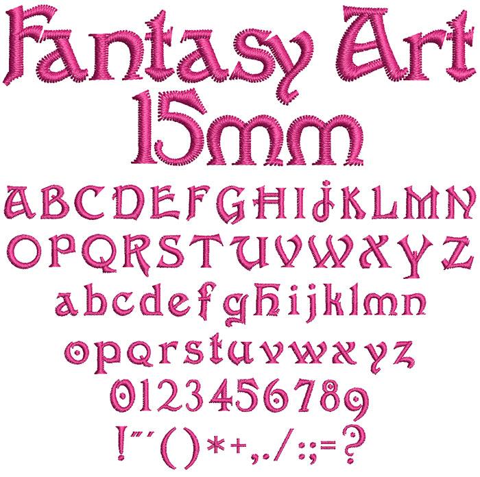 Fantasy Art 15mm Font 1