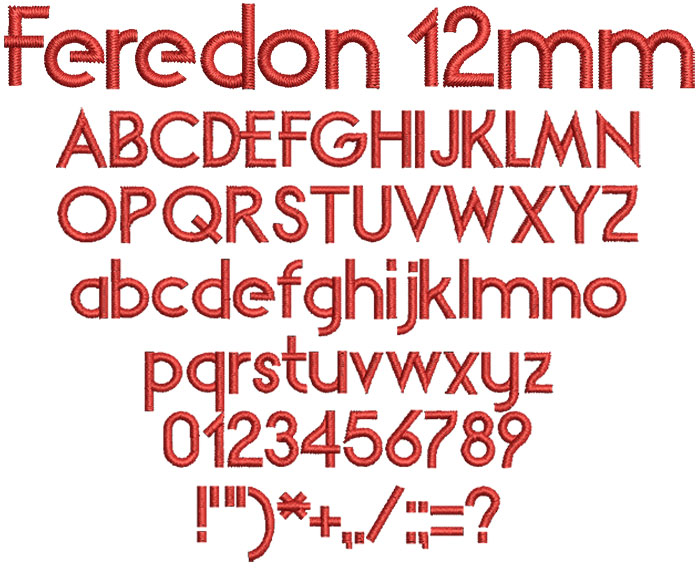 Feredon 12mm Font 1