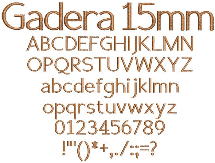 Gadera 15mm Font 1