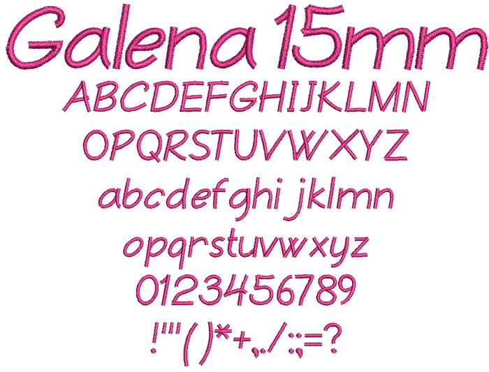 Galena 15mm Font 1