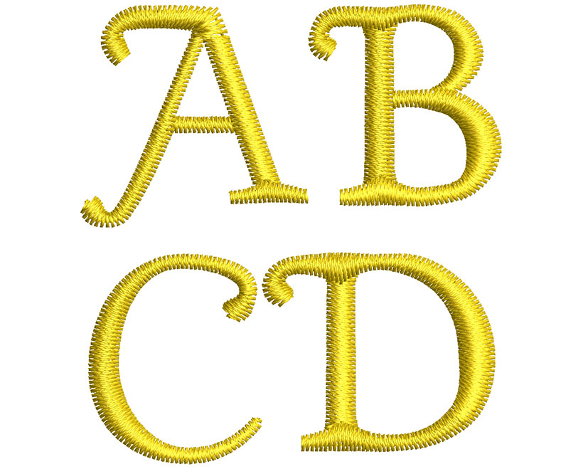 Gold Plated 20mm Font 2