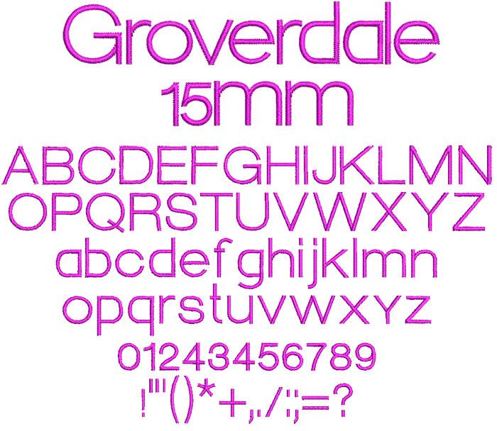 Groverdale 15mm Font 1