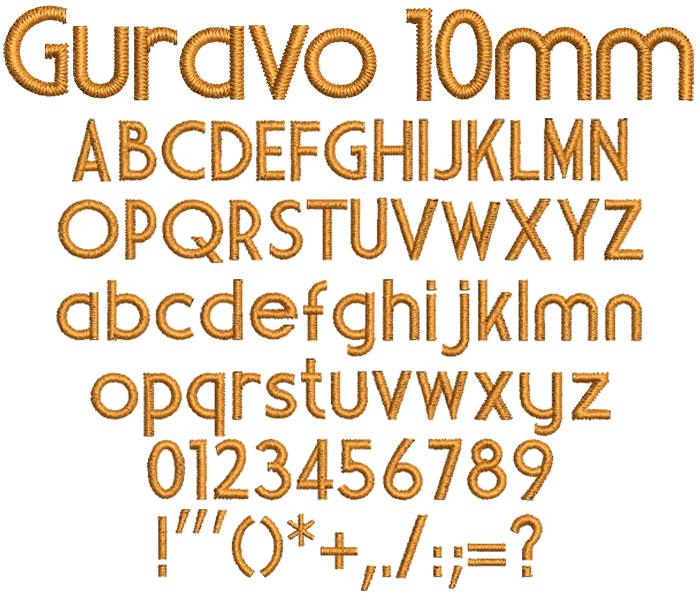 Guravo 10mm Font 1