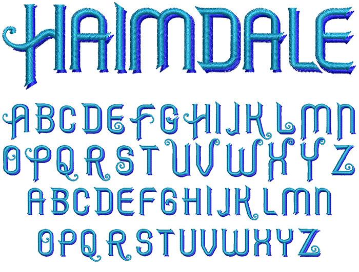 Haimdale 30mm 2 Color Font 1
