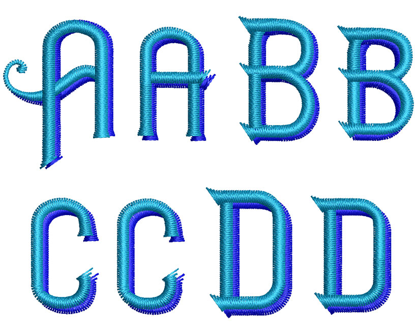 Haimdale 30mm 2 Color Font 2