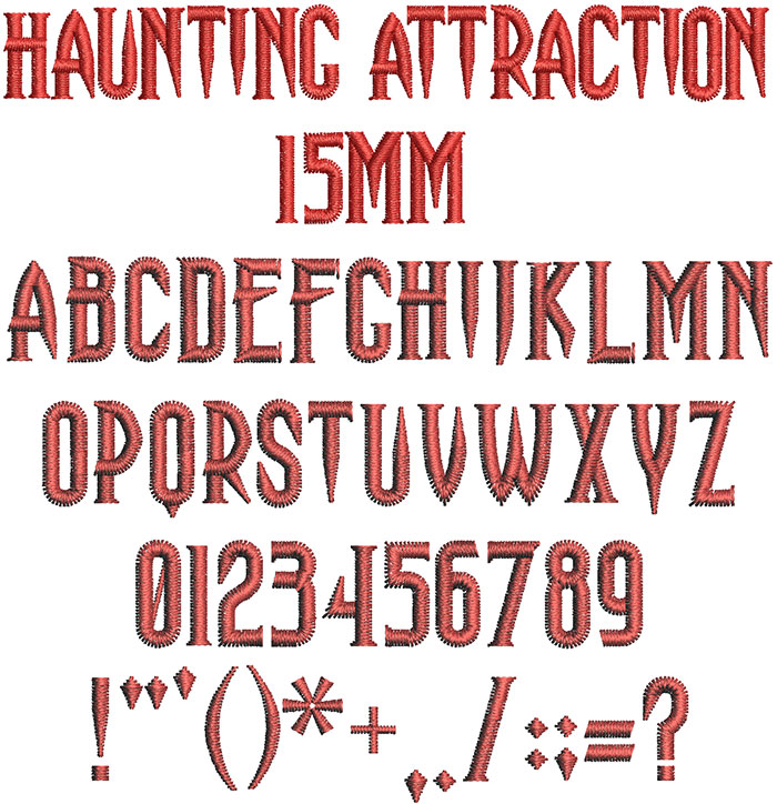 Haunting Attraction 15mm Font 1