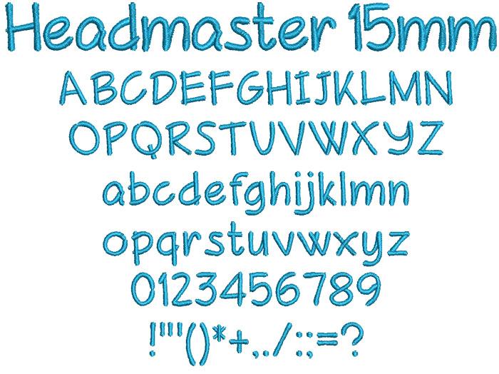 Headmaster 15mm Font 1