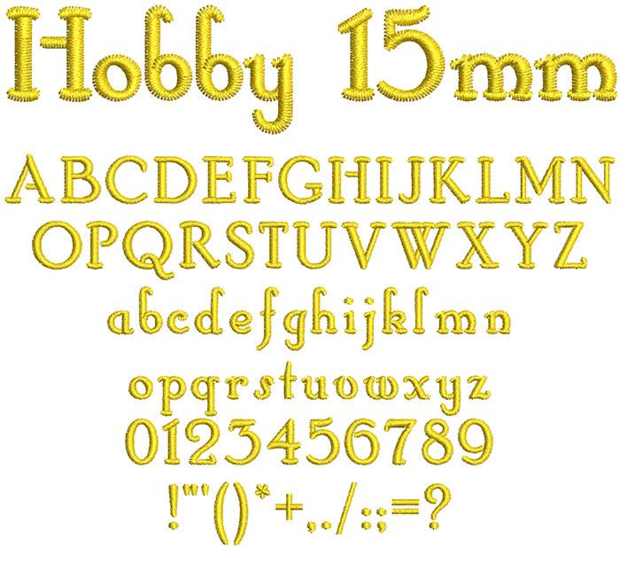 Hobby 15mm Font 1