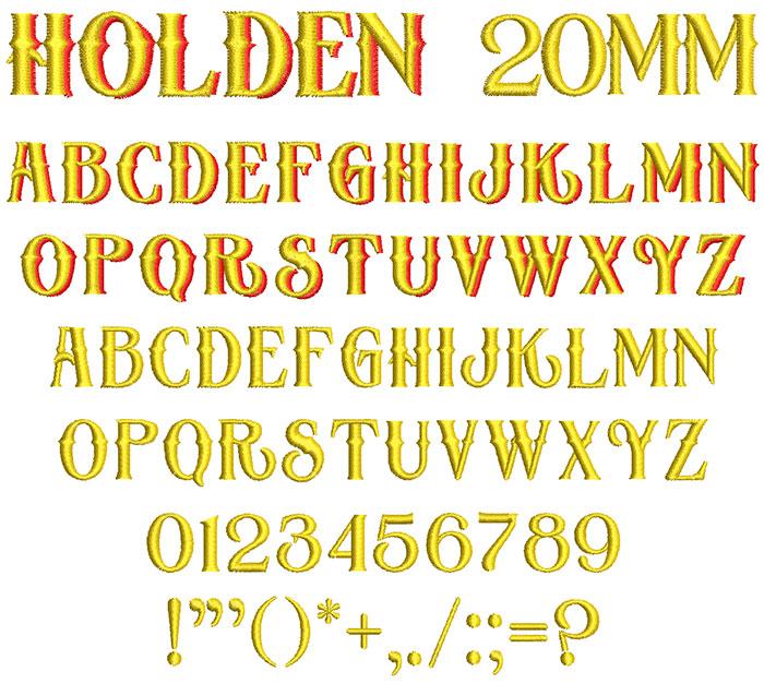 Holden 20mm 2 Color Font 1