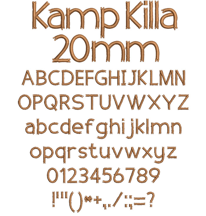 Kamp Killa 20mm Font 1