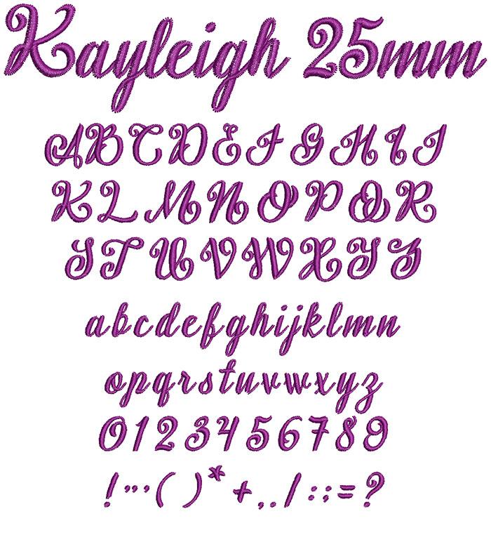 Kayleigh 25mm Font 1