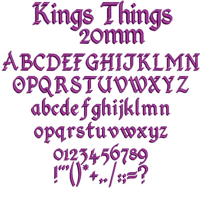 King Things 20mm Font 1