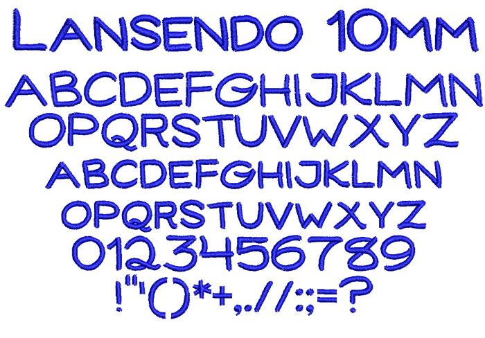 Lansendo 10mm Font 1