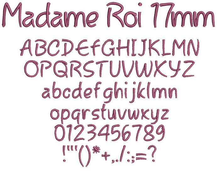 Madame Roi 17mm Font 1