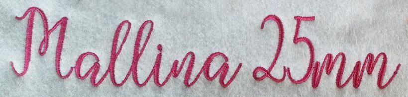 Mallina 25mm Font 2