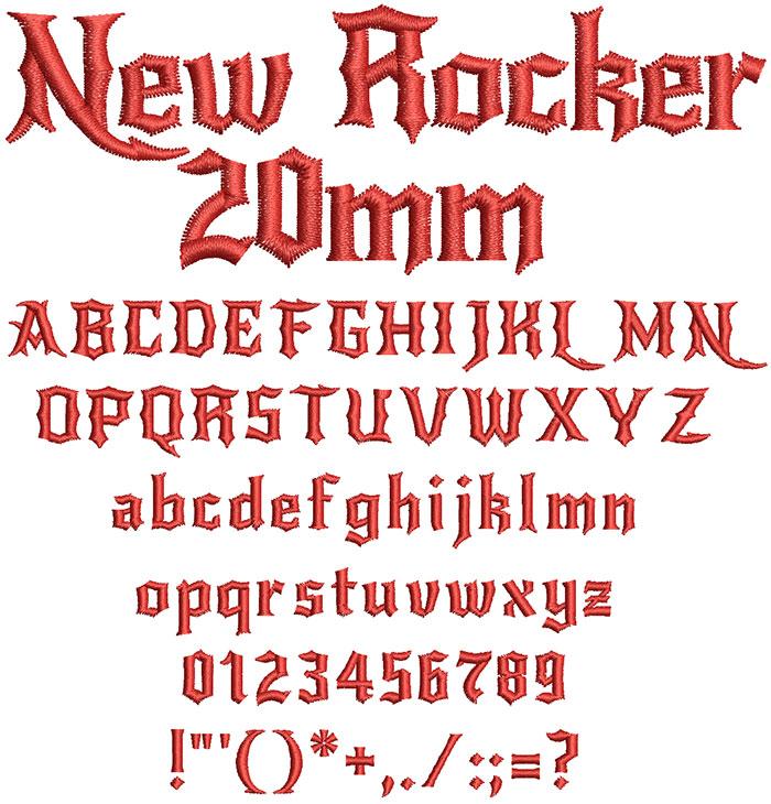 New Rocker 20mm Font 1