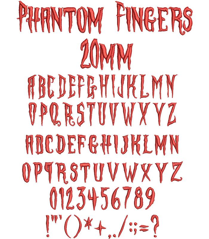 Phantom Fingers 20mm Font 1