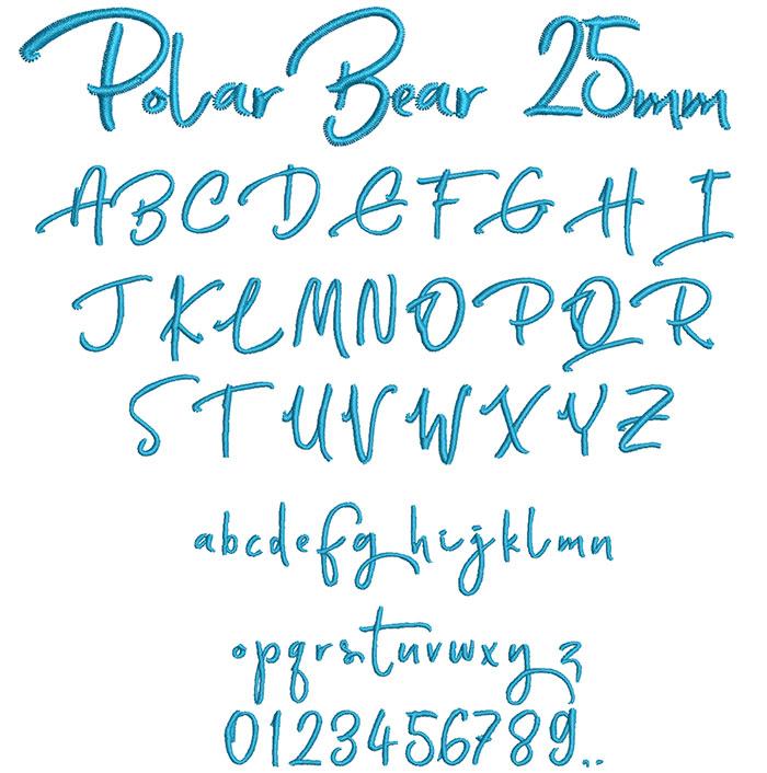 Polar Bear 25mm Font 1