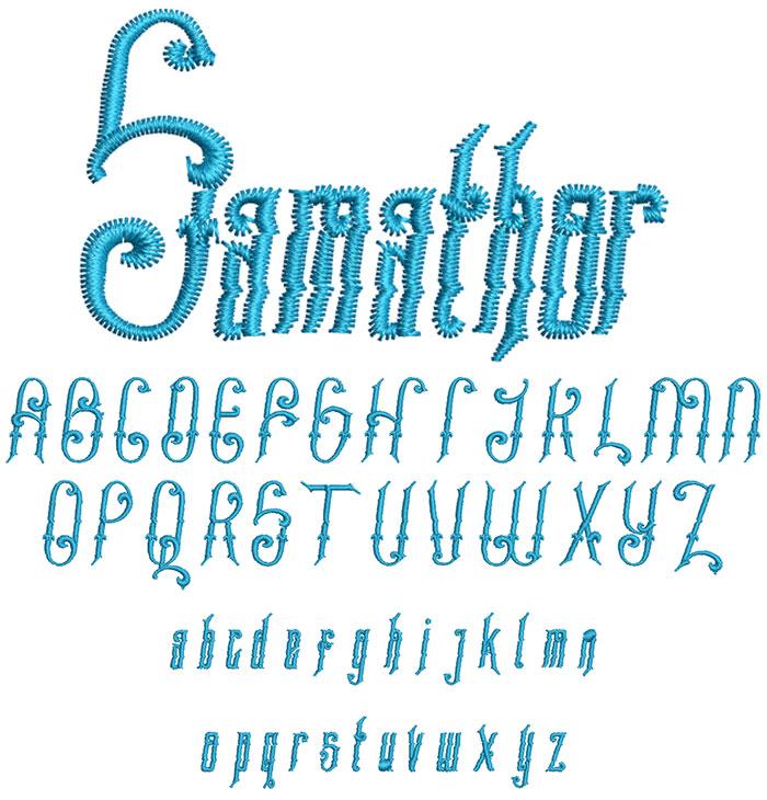 Samathor 30mm Font 1